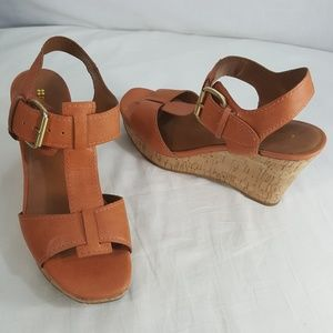 Cork Wedge Platform Sandal Strappy  Chester